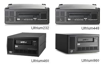 HP Storage Works シングルテープ装置